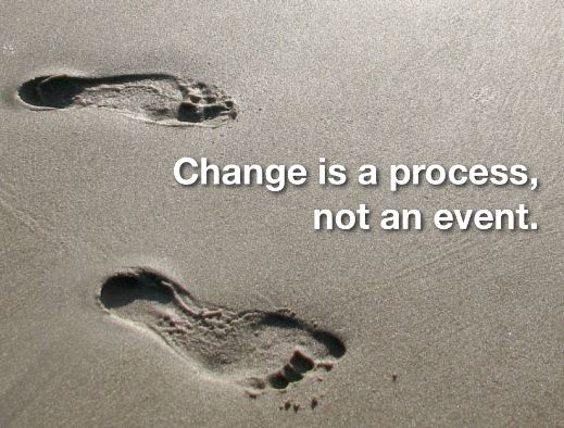 Change is a process, not an event.