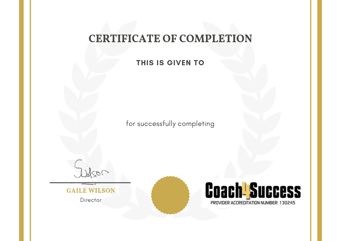 certificate of completion coach4success