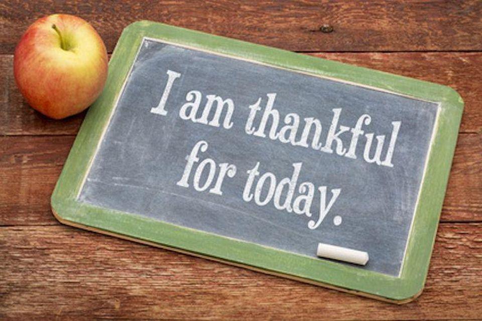 gratitude chalk board quote