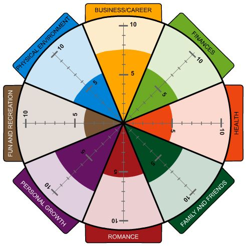 Coach4Success wheel of life assessment